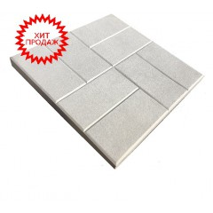 Вибролитая тротуарная плитка  8 кирпичей 300х300х30 шершавая (шагрень)